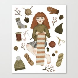 forest knitting Canvas Print