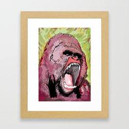 The gorilla  Framed Art Print