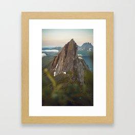 The Segla Mountain In Northern Norway Framed Art Print
