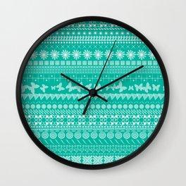 Teal-Licious Wall Clock