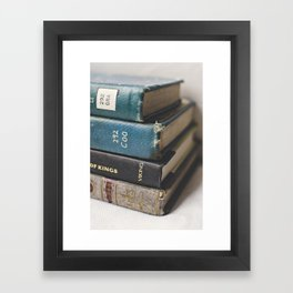 Vintage Books - Book series Framed Art Print