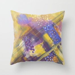 Abstract Plaid Throw Pillow