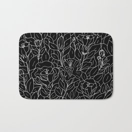 Floral Sketch - W&B Bath Mat