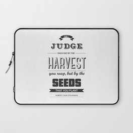 Lab No. 4 - Don't judge each day Robert Louis Stevenson Inspirational Quotes Poster Laptop Sleeve