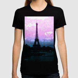Paris Eiffel Tower : Lavender Teal T-shirt