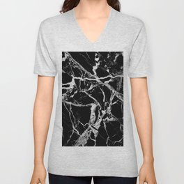 Black marble pattern Unisex V-Neck