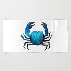 Cerulean blue Crustacean Beach Towel