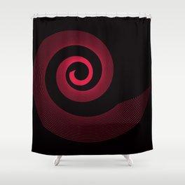 Red black spirale 5 Shower Curtain