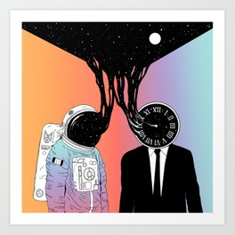 A Portrait of Space and Time ( A Study of Existence) Art Print