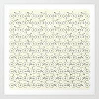 bicycles Art Prints featuring Bicycles by superdumb