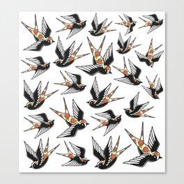 Rose Sparrows Canvas Print