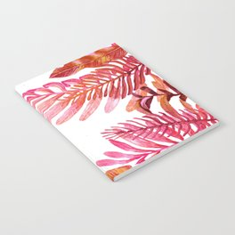 red tropical nature Notebook