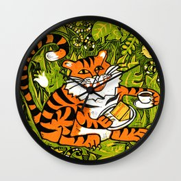 Tiger teatime Wall Clock