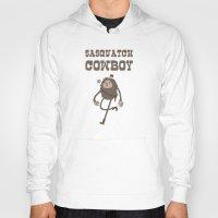 sasquatch Hoodies featuring Sasquatch Cowboy by Sasquatch Cowboy