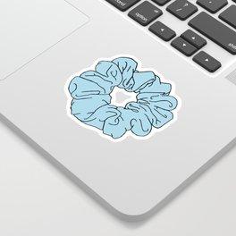 blue scrunchie Sticker