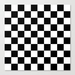Checkered Pattern: Black & White Canvas Print