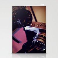 cameras Stationery Cards featuring cameras by Raquel Cuellar