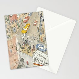 View above Market Street, San Francisco Street Scenes Stationery Cards