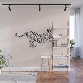 Tiger and Sun I. Wall Mural