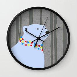 Polar Bear Holiday Design Wall Clock