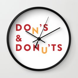 DOn'S & DONu'TS Wall Clock