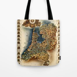 Map of Holland Tote Bag