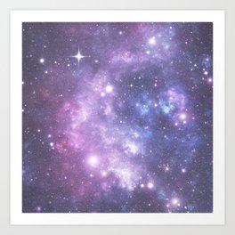 Space Frontier - Purple Art Print