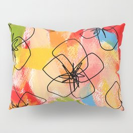 Hibiscus Family #1 - hibiscus illustration flower pattern floral painting nursery room decor Hawaii Pillow Sham