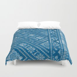 Blue Burnout 3... Duvet Cover