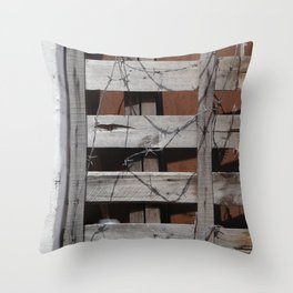 Untitled Planks with Barbs Throw Pillow