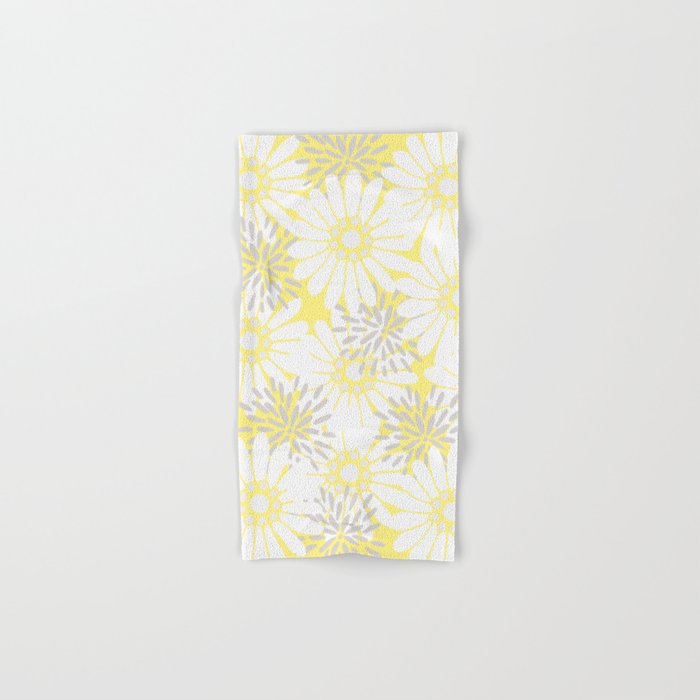 Summer Flowers Yellow Hand & Bath Towel