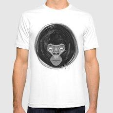 Gorilla  Mens Fitted Tee White MEDIUM