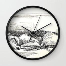 Elwood sleeping Wall Clock