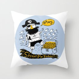 Pirate's Life For Me: Ahoy! Throw Pillow