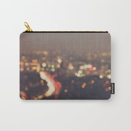 Los Angeles cityscape at night. Abstract Mulholland Carry-All Pouch