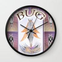 bug Wall Clocks featuring BUG by CrismanArt