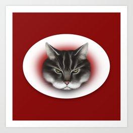 sinister kitty Art Print