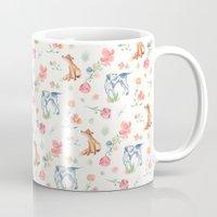 the hound Mugs featuring Fox & Hound by jilln