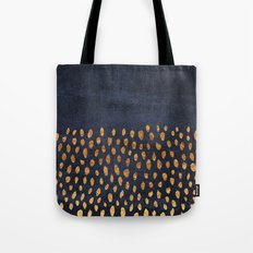 Pattern Play / Navy & Gold Tote Bag
