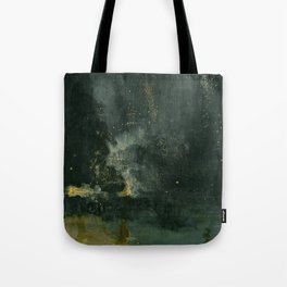 James Abbott McNeill Whistler Nocturne In Black And Gold Tote Bag