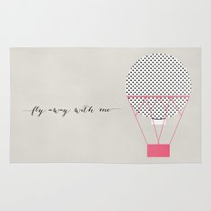 FLY AWAY WITH ME - HOT AIR BALLOON 2 Rug