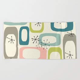 Mid Century Modern Shapes #society6 #buyart Beach Towel