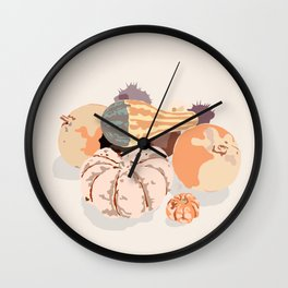 Fall fruits composition Wall Clock