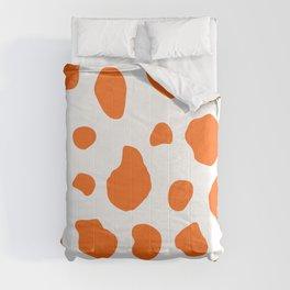 Cow Print Background Orange Color Comforters