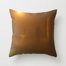In orange Throw Pillow