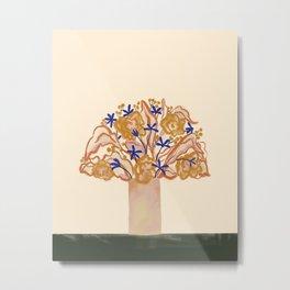 Umbrella Vase Metal Print