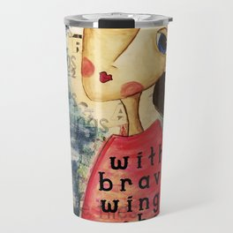 Coco's Closet- With Brave Wings She Flies Travel Mug