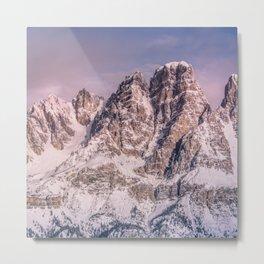 Mountains snow Metal Print