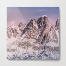 Mountains snow Metal Print