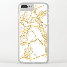 MECCA SAUDI ARABIA CITY STREET MAP ART Clear iPhone Case